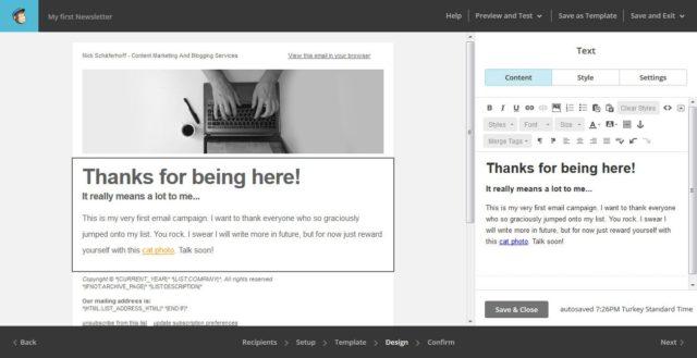 آموزش نحوه راه اندازی کمپین ایمیلی با Mailchimp 9