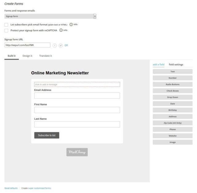 آموزش نحوه راه اندازی کمپین ایمیلی با Mailchimp 6