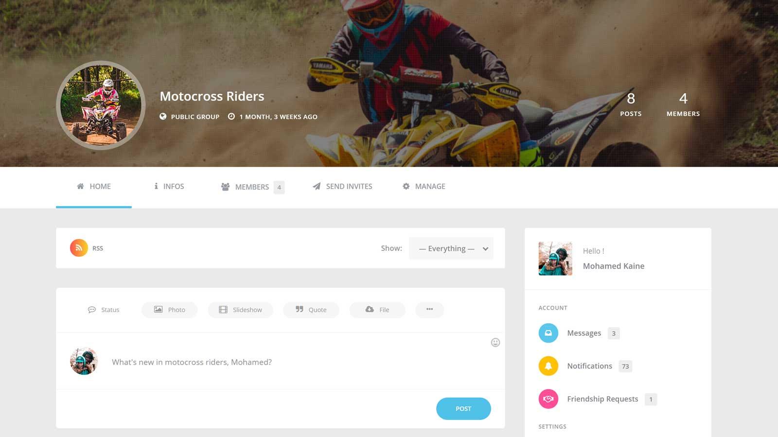 ساخت شبکه اجتماعی با وردپرس توسط افزونه youzer و بادی پرس 8