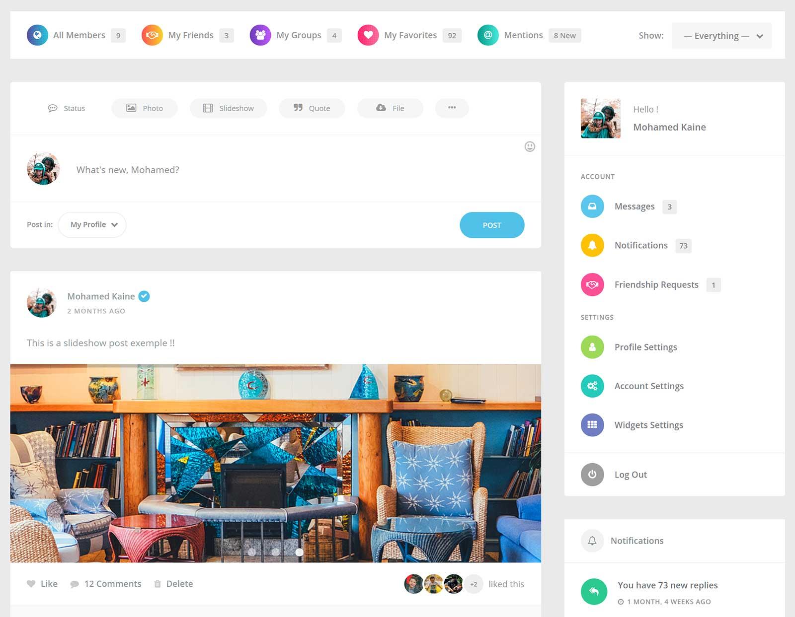 ساخت شبکه اجتماعی با وردپرس توسط افزونه youzer و بادی پرس 2